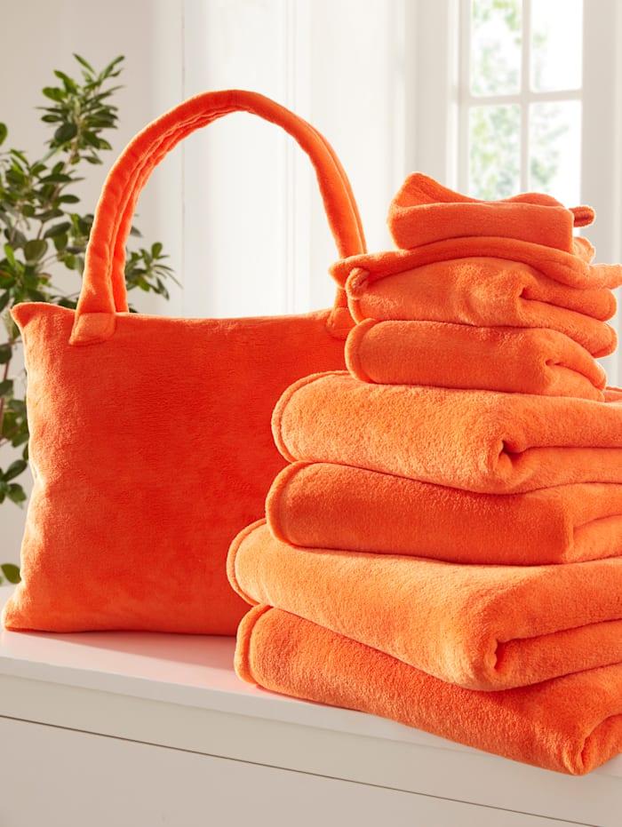 Webschatz 8-dielna froté súprava + taška zadarmo, Oranžová