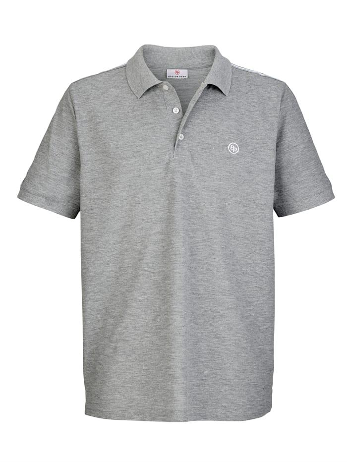 Boston Park Poloshirt met contrastkleurige details, Grijs