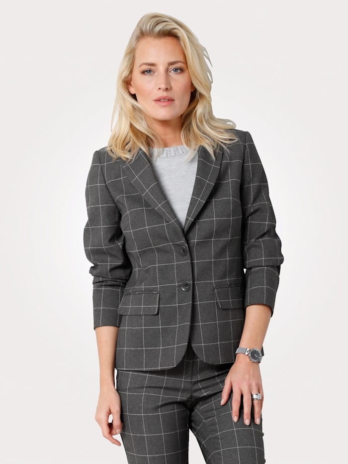 MONA Blazer à carreaux, Anthracite
