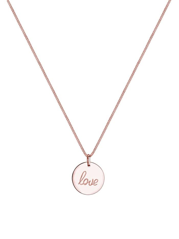 Halskette Love Schriftzug Wording Trend 925 Sterling Silber