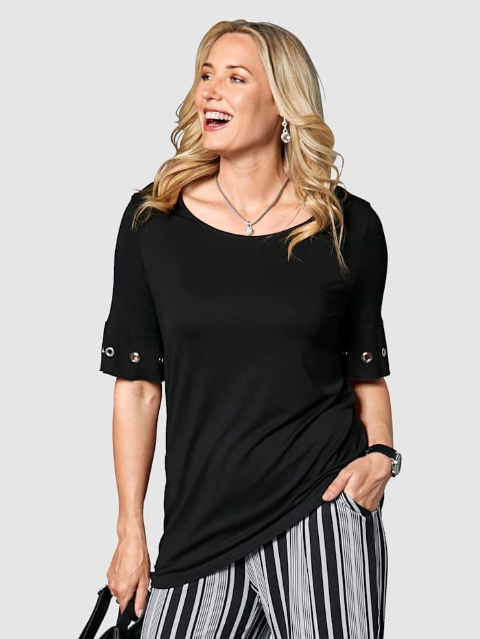 Shirt mit Volant an den Ärmeln