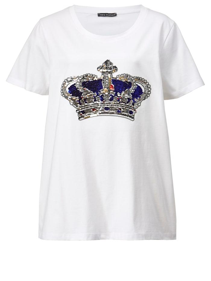 Shirt mit funkelndem Kronenmotiv