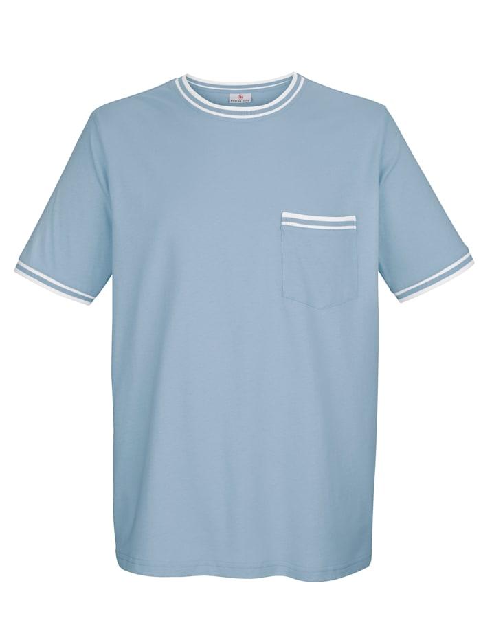 Boston Park Raitaresorillinen T-paita, Vaaleansininen