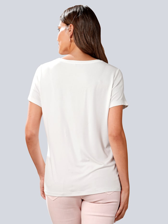 Shirt mit appliziertem Motiv-Druck