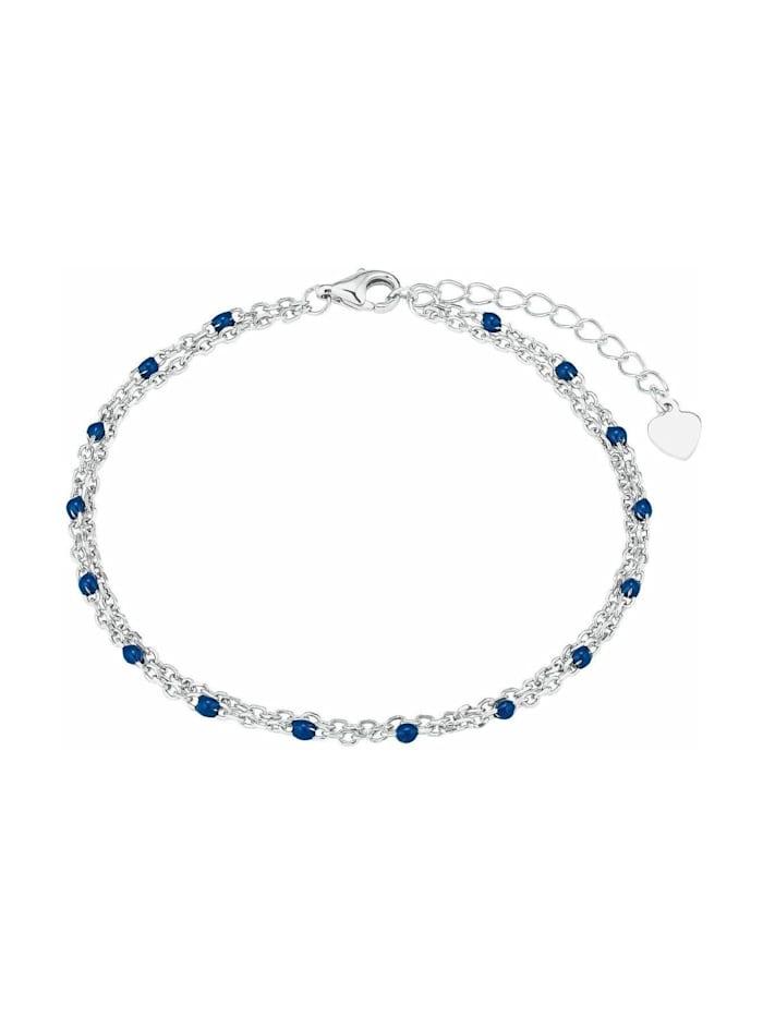amor Armband für Damen, Silber 925 | blau, Silber