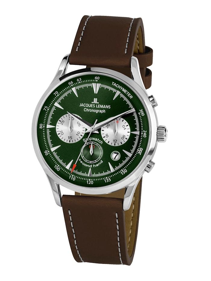 Jacques Lemans Herren-Uhr Chronograph Serie: Retro Classic, Kollektion: Retro Classic: 1- 2068D, Dunkelbraun