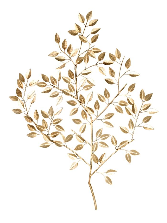IMPRESSIONEN living Wand-Deko, Blätter, goldfarben
