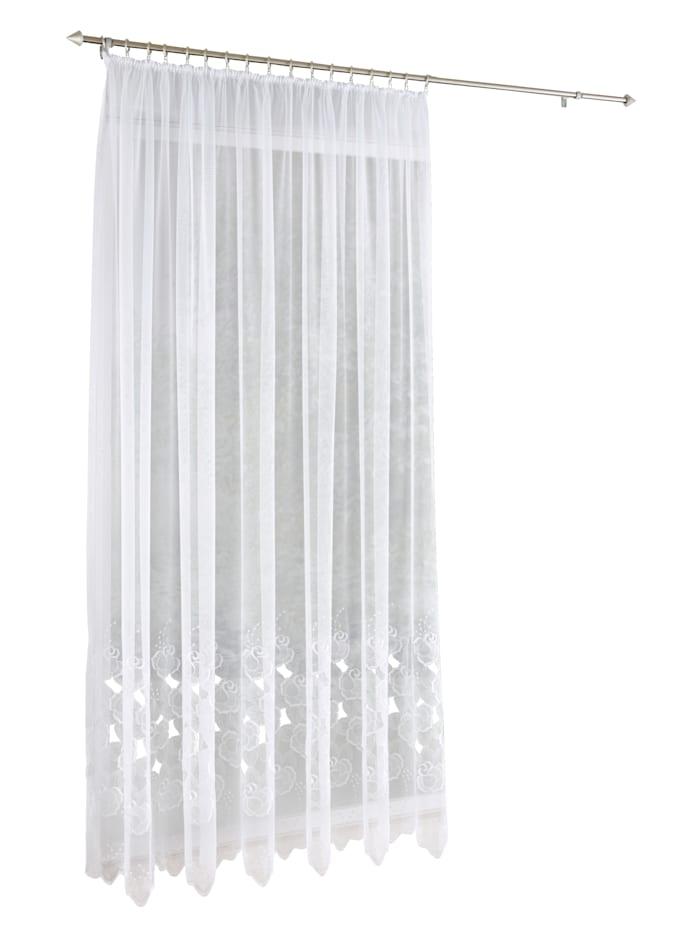 Stickereien & Textilien Gardinserie -Ljubica-, hvit