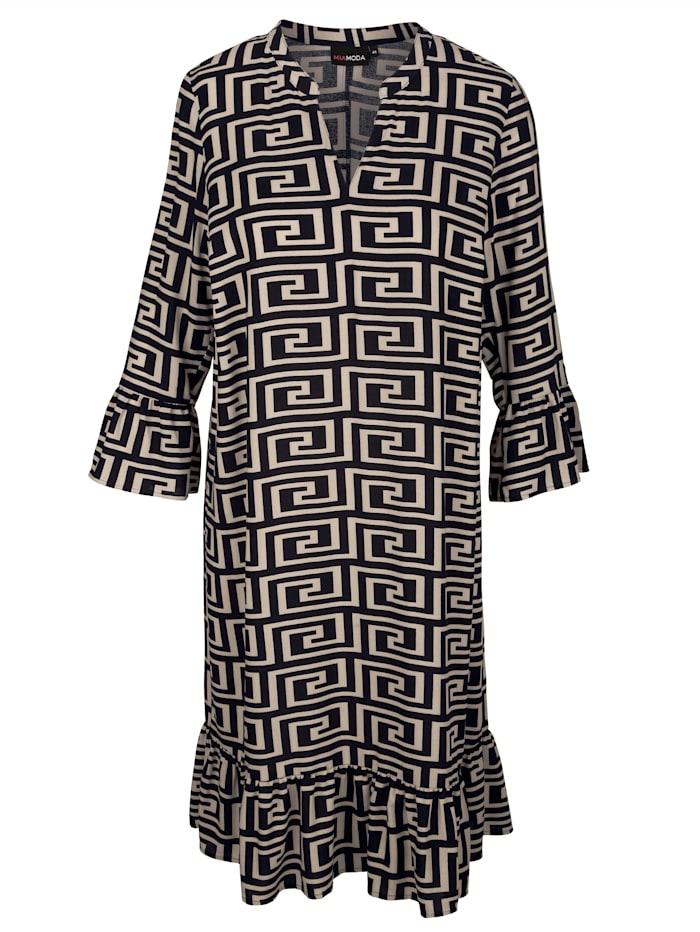 Kleid mit grafischem Alloverdruck
