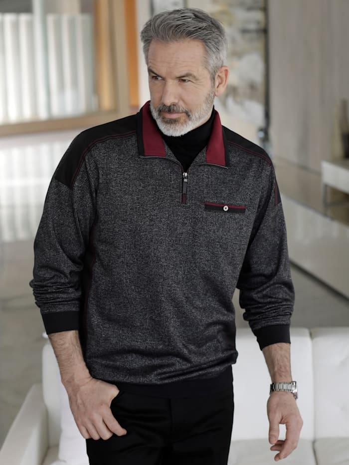BABISTA Sweatshirt met modieuze inzetten van weefstof, Antraciet