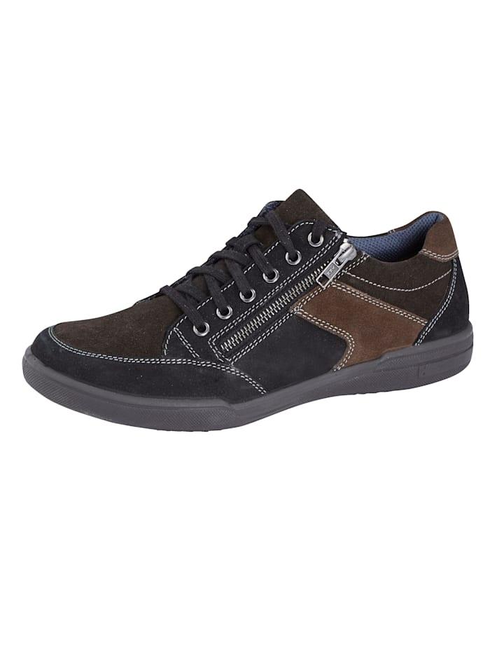 Jomos Šnurovacia obuv s dodatočným zipsom, Hnedá