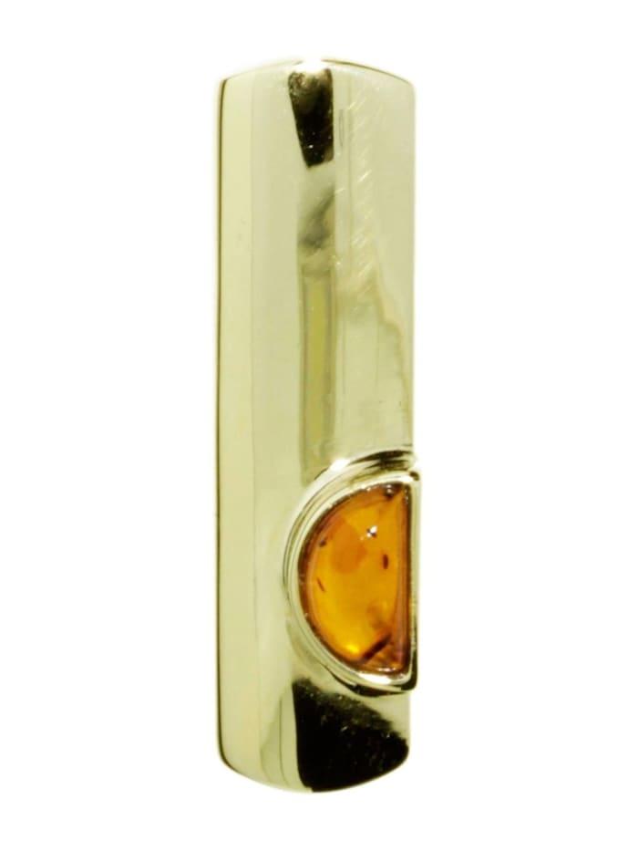 OSTSEE-SCHMUCK Anhänger - Gleiter-Ida-Marie - Gold 333/000 - Bernstein, gelb