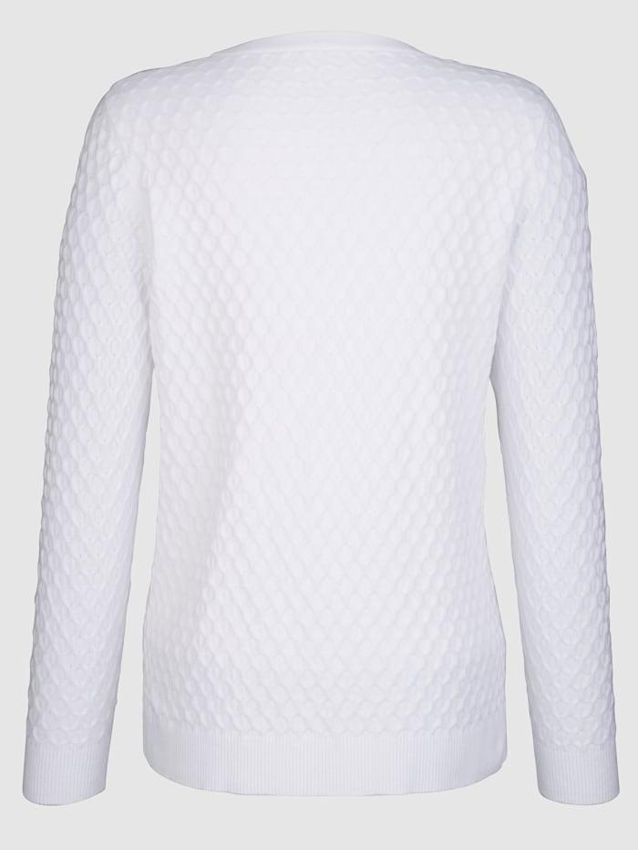 Pullover mit strukturierter Warenobfläche
