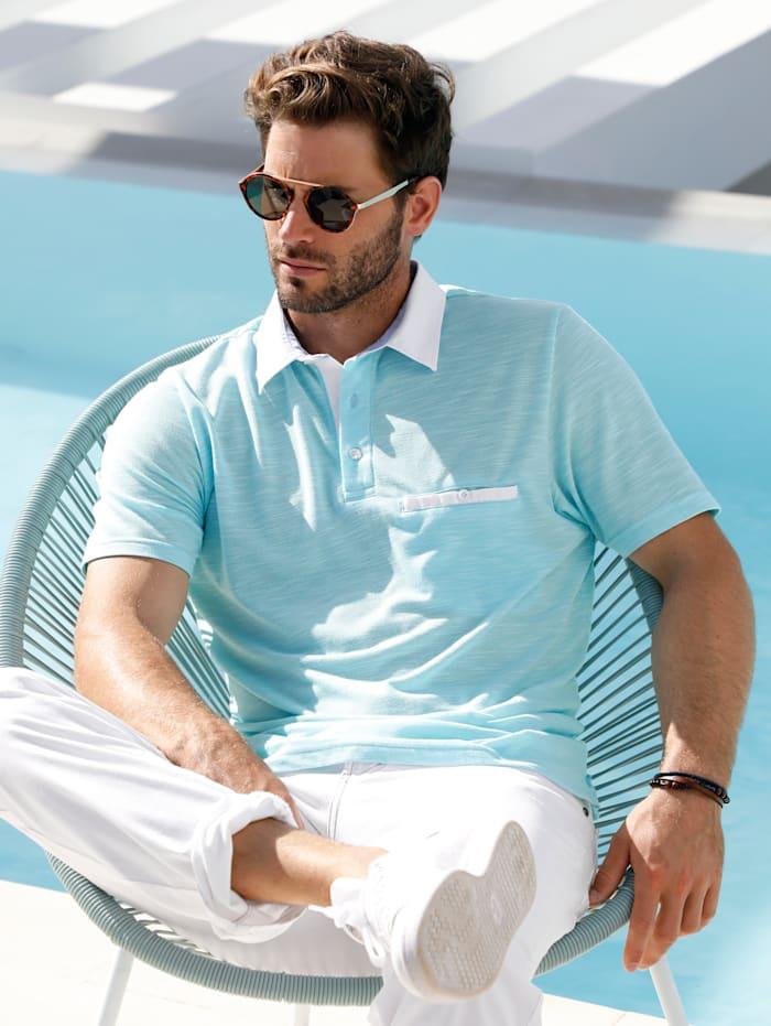 BABISTA Poloshirt in bicolor look, Mint