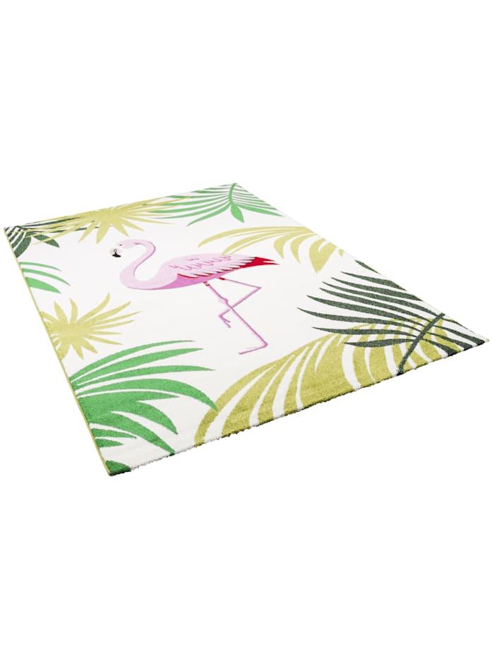 Pergamon Designer Teppich Faro Tropical Flamingo, Bunt