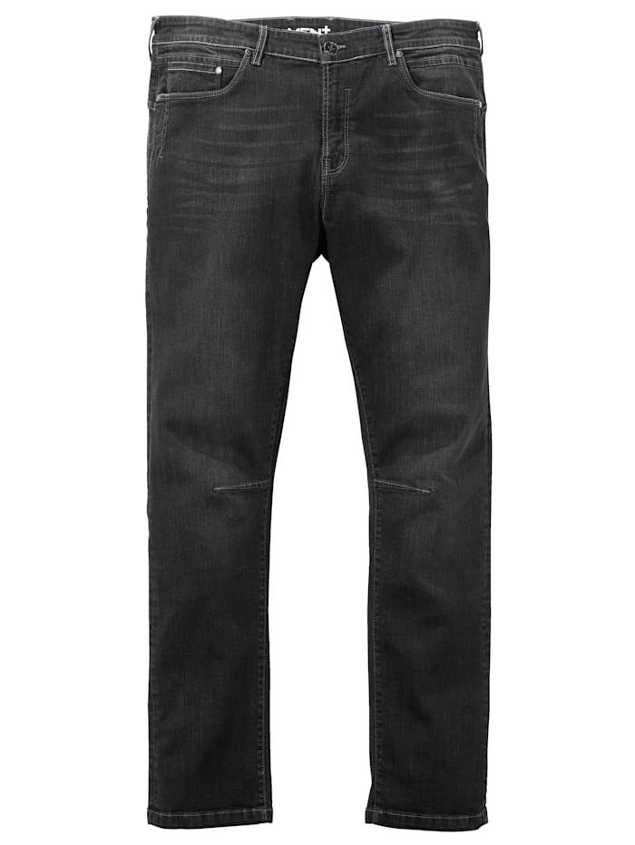 Men Plus Jeans i klassisk 5-ficksmodell, Black stone
