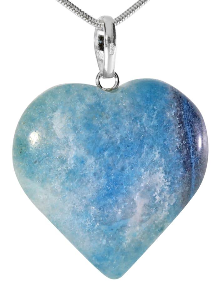 1001 Diamonds Damen Schmuck Edelstein Blauquarz Anhänger 925 Silber blau, blau