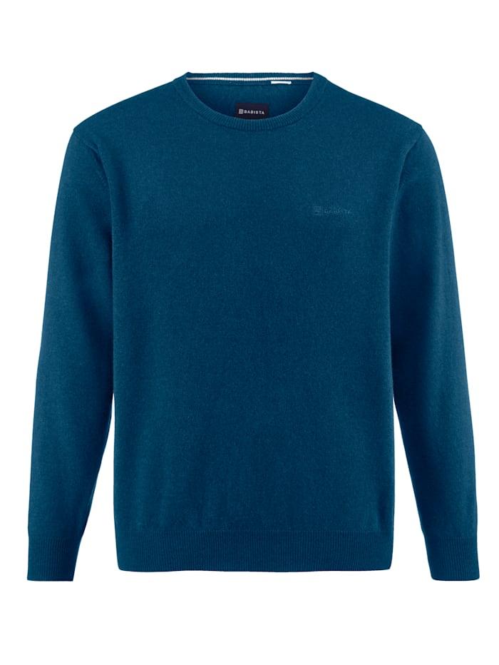 Babista Premium Pull-over en laine à part de cachemire, Pétrole