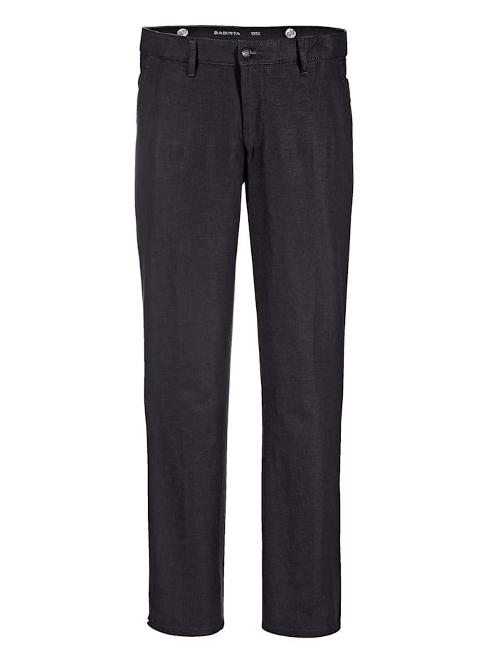 BABISTA Pantalon en lin léger, Noir
