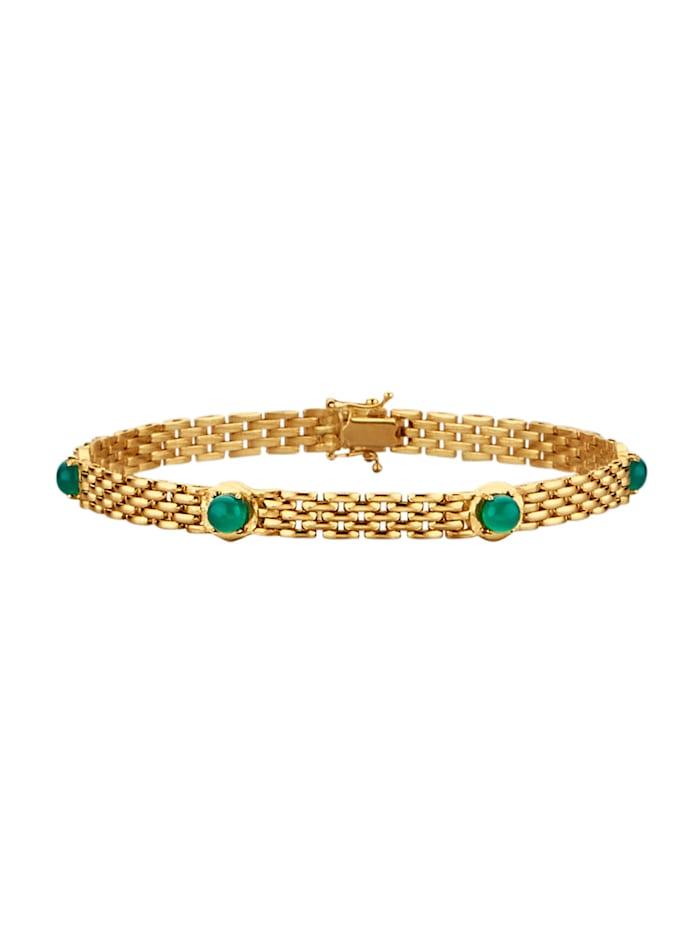 Diemer Farbstein Armband met smaragden, Groen