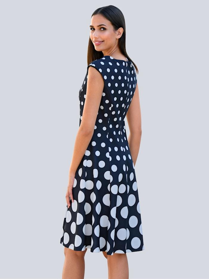 Princesskleid mit Punktedessin aus bequemer Scubaware