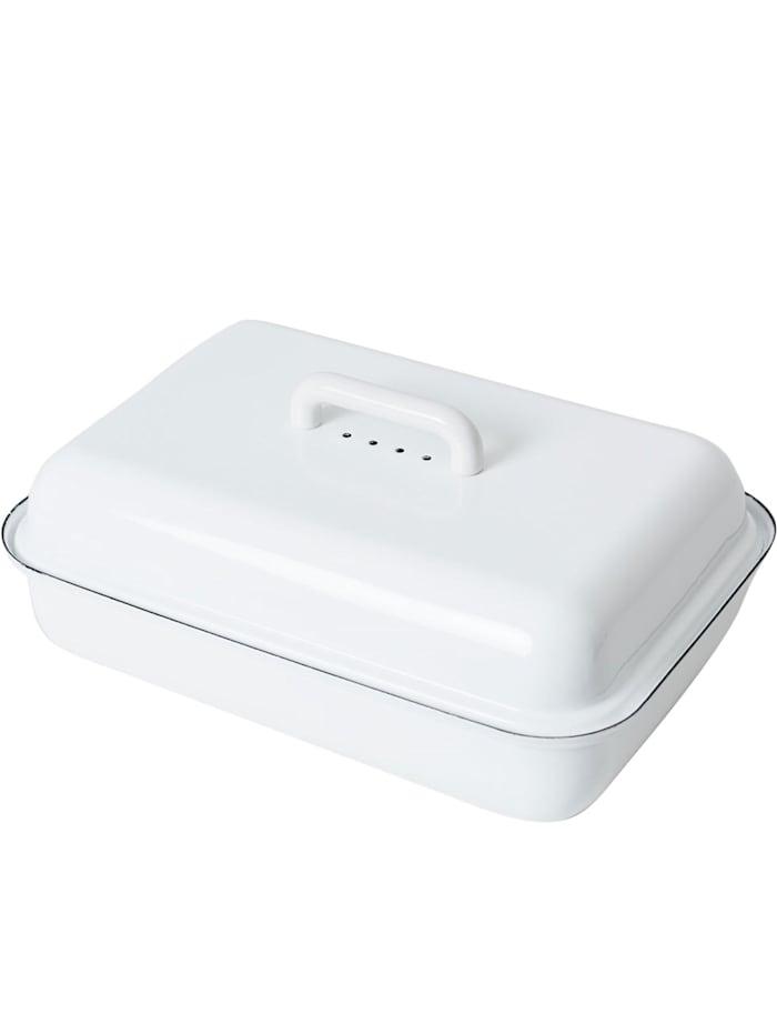 Riess Brotdose mit Deckel classic weiß, Weiß