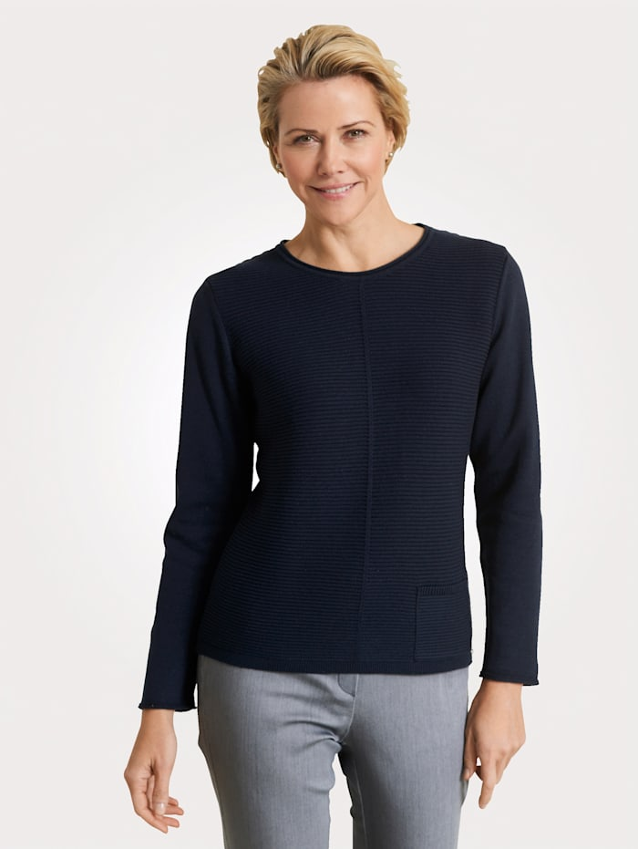 Rabe Jumper with patch pockets, Navy