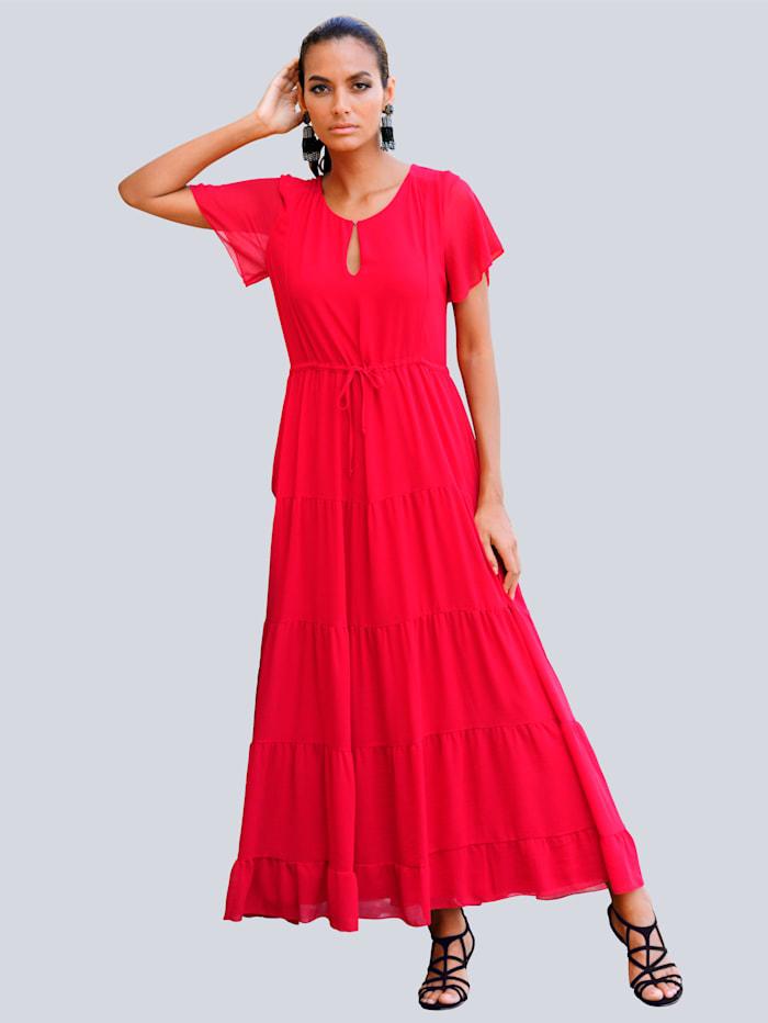 Alba Moda Strandkleid im Stufenlook, Rot