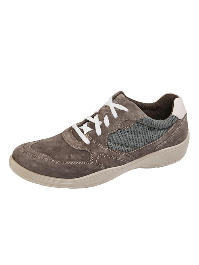 Jomos Šnurovacia obuv s kontrastným prešívaním, Hnedá