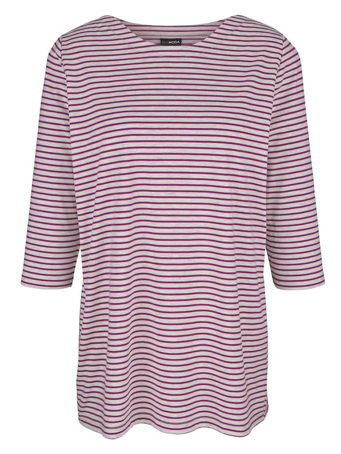 Shirt mit Streifendruck