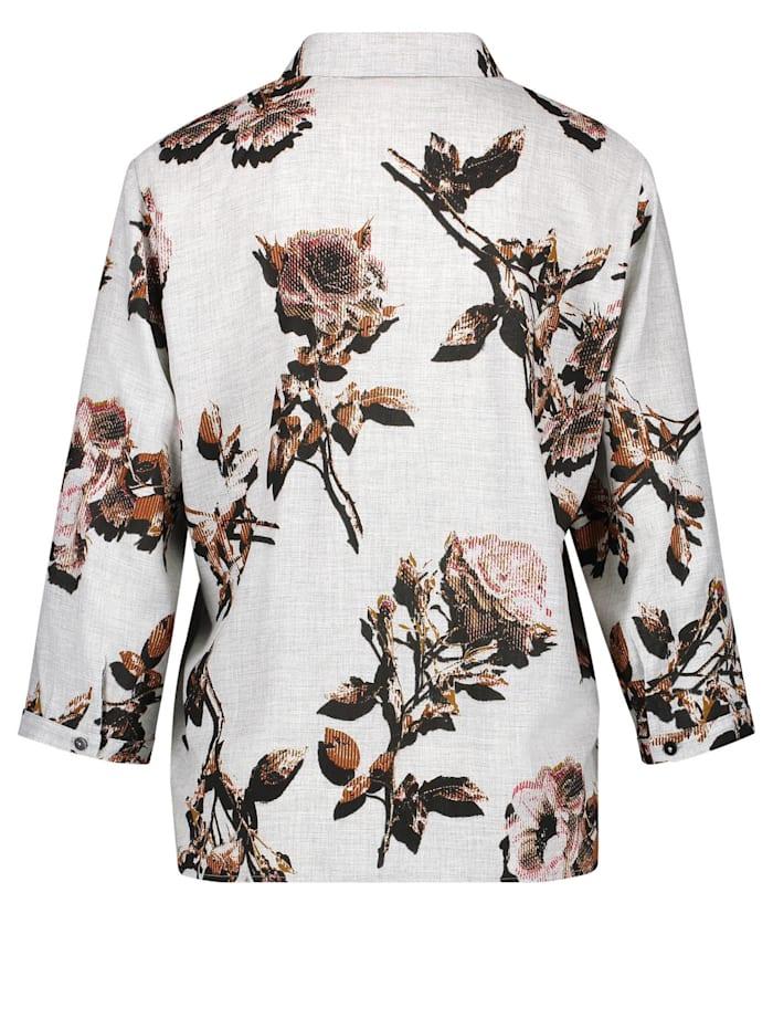 3/4 Arm Bluse mit floralem Muster