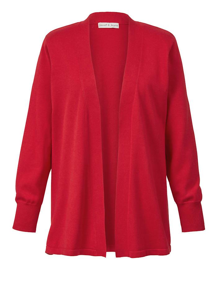 Janet & Joyce Basic vest in open model, Rood