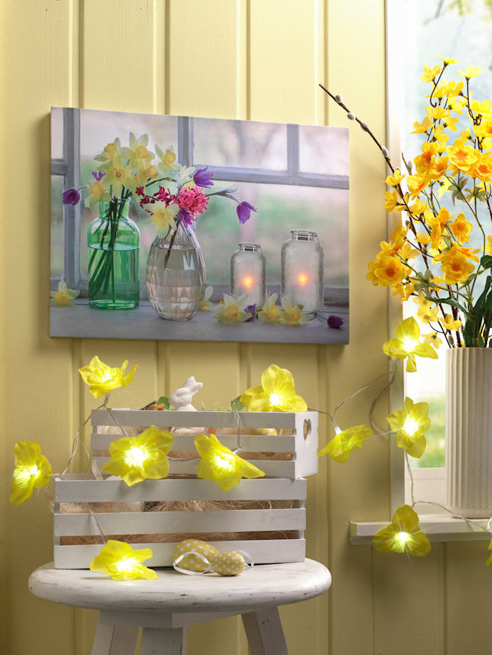 LED-Bild 'Blumengruß', multicolor