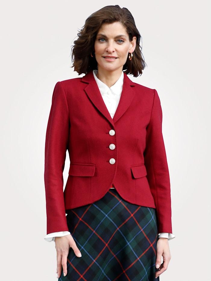 MONA Blazer with a feminine rounded hem, Red