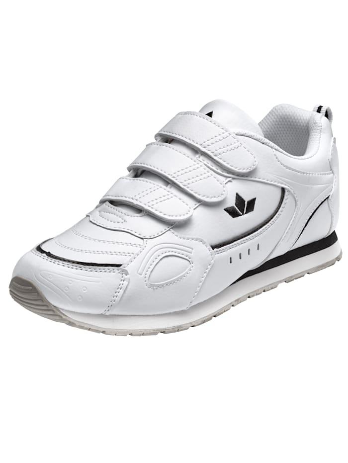 Lico klittenbandschoen met zool geschikt voor binnensport, Wit