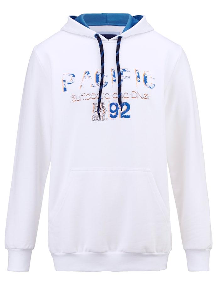 BABISTA Sweat-shirt à capuche en pur coton, Blanc