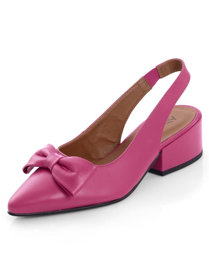 Alba Moda Slingpumps aus hochwertigem Ziegenleder, Pink