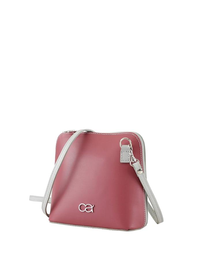 Collezione Alessandro Leder Wendetasche Francine zweifarbige Tasche, rosa