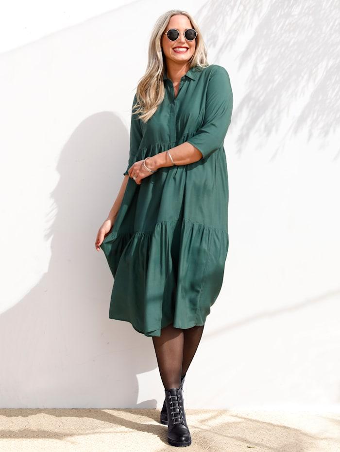 MIAMODA Kleid in Stufenform, Grün