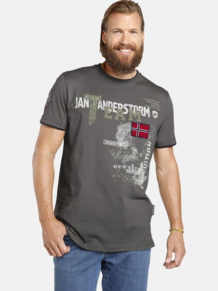Jan Vanderstorm Jan Vanderstorm T-Shirt SÖLVE, dunkelgrau