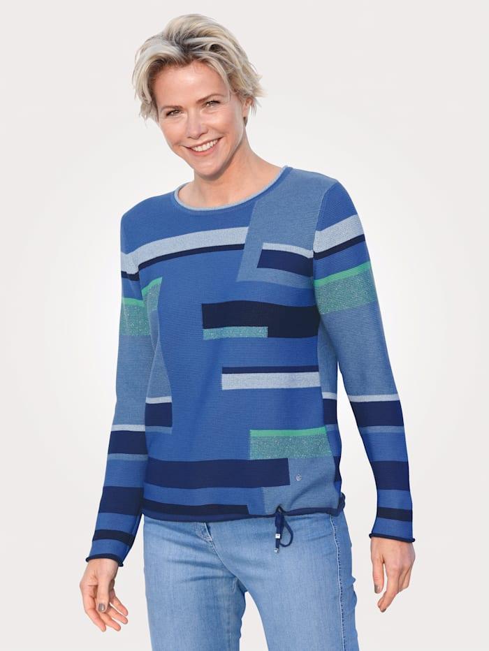 Rabe Pullover, Blau/Grün