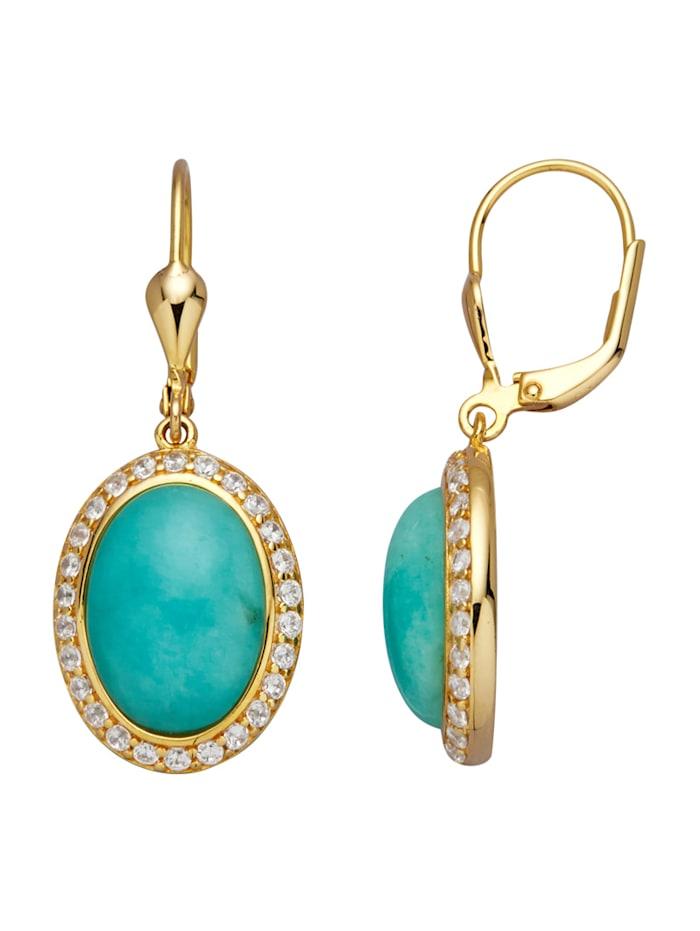 Ohrringe mit Amazoniten, Blau