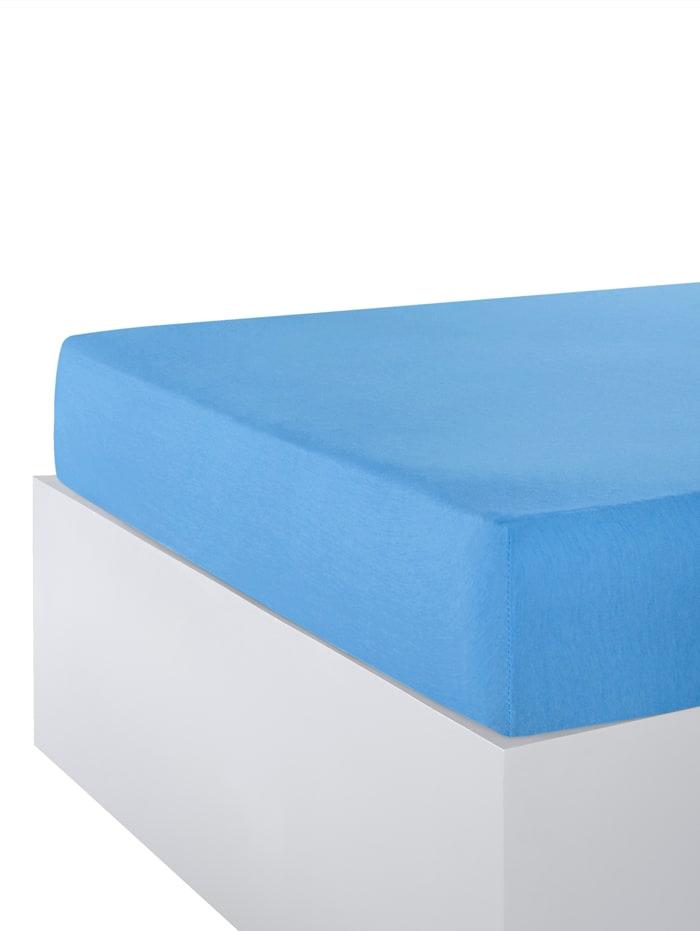 Webschatz Stretchlaken av jersey, lyseblå