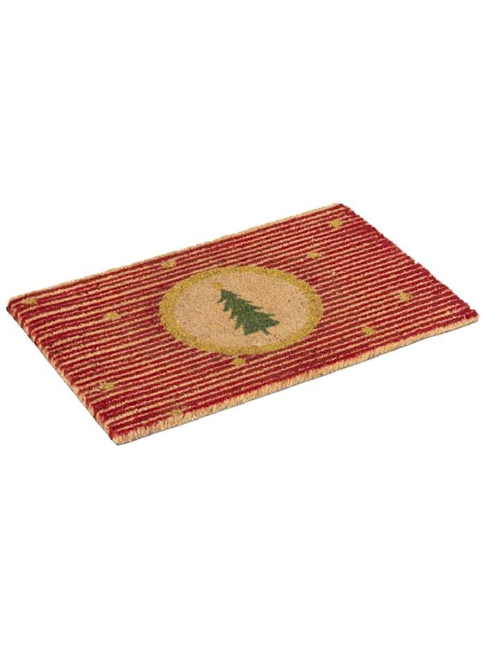 Living Kokos-Fußmatte, Rot/Goldfarben