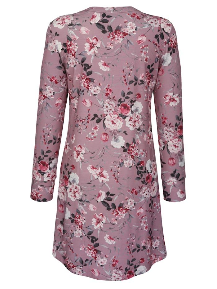 Nachthemd im romantischen Blumendessin