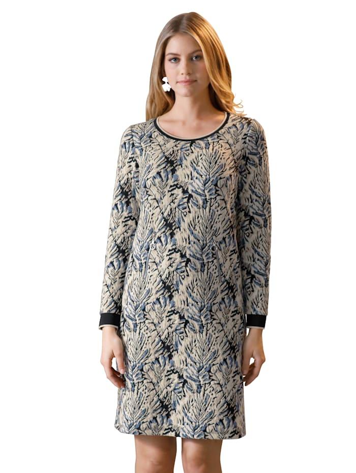 Jerseykleid mit metallisiertem Garn