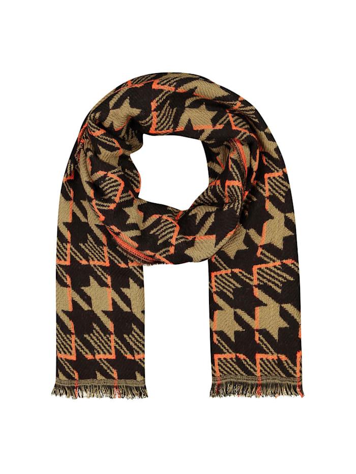 Codello Ultrasofter Glencheck-Schal mit Wolle, camel