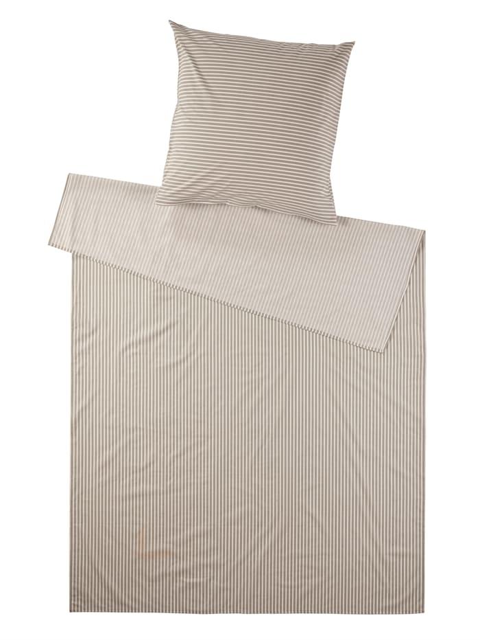 Irisette Sommerlig sengesett i bomullslerret, Grå