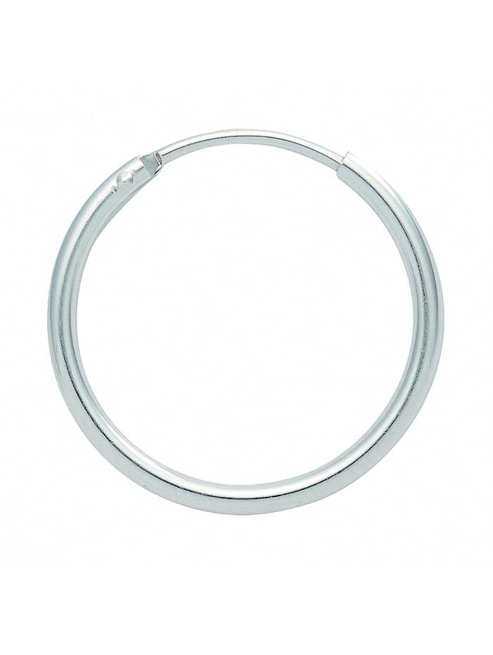 1001 Diamonds Damen Silberschmuck 925 Silber Ohrringe / Creolen Ø 13 mm, silber