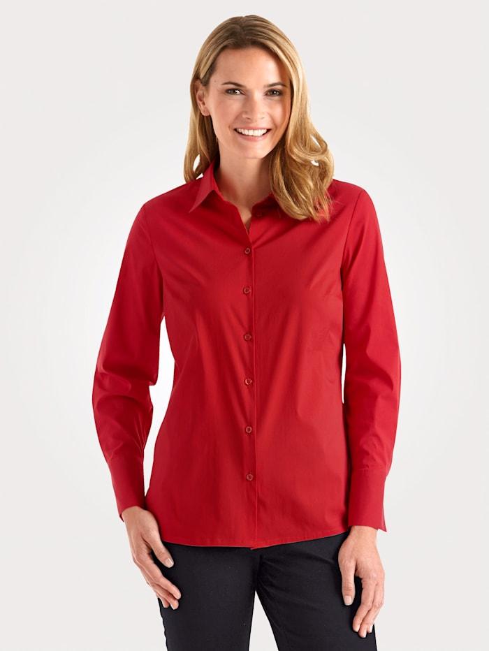 MONA Bluse mit Baumwolle, Rot